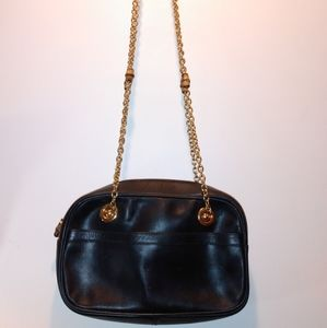 Gucci Bamboo Leather Double Chained Shoulder Bag